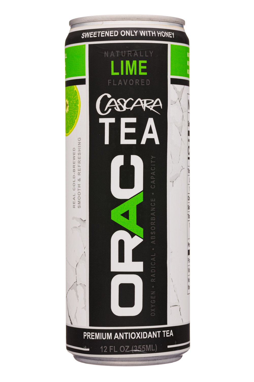 Orac: Orac-12oz-CascaraTea-Lime-Front