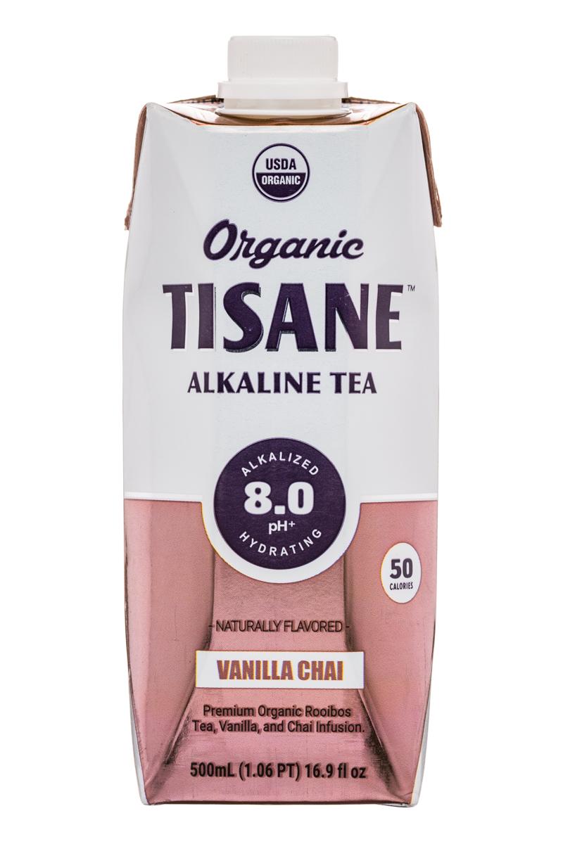 Organic Tisane: Tisane-AlkalineTea-17oz-VanillaChai-Front
