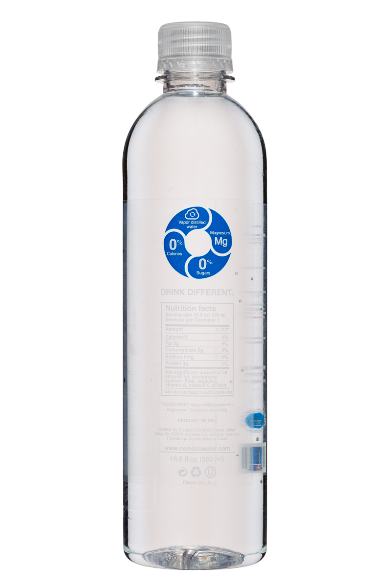 Osmoze Water: OsmozeWater-17oz-VaporDistilled-Magnesium-Facts