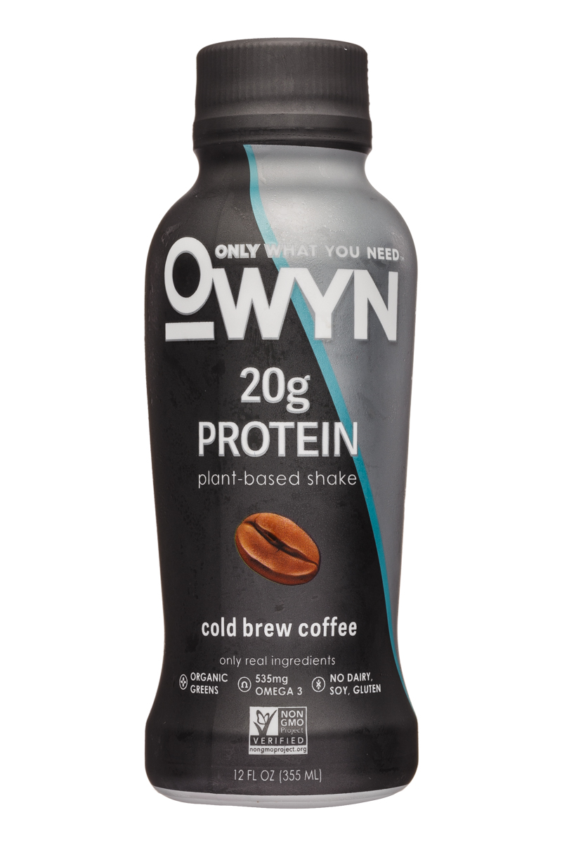 OWYN: Only What You Need: OWYN-12oz-ProteinShake-ColdBrew-Front