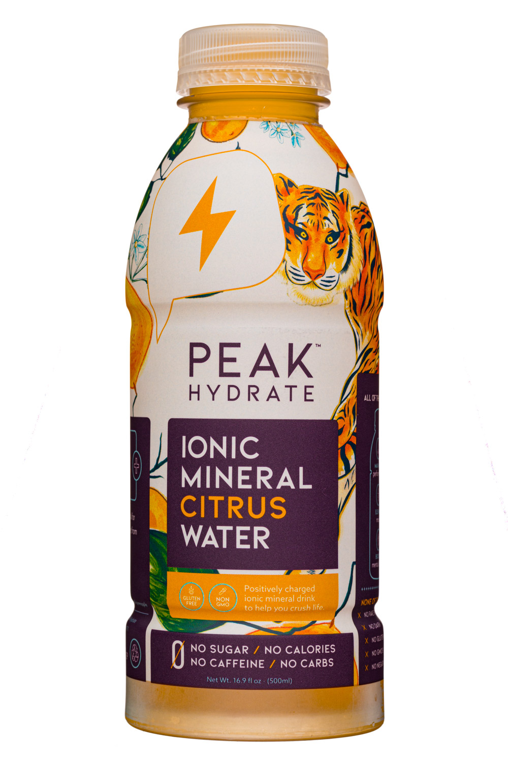 Peak Hydration: PeakHydrate-17oz-MineralWater-Citrus-Front