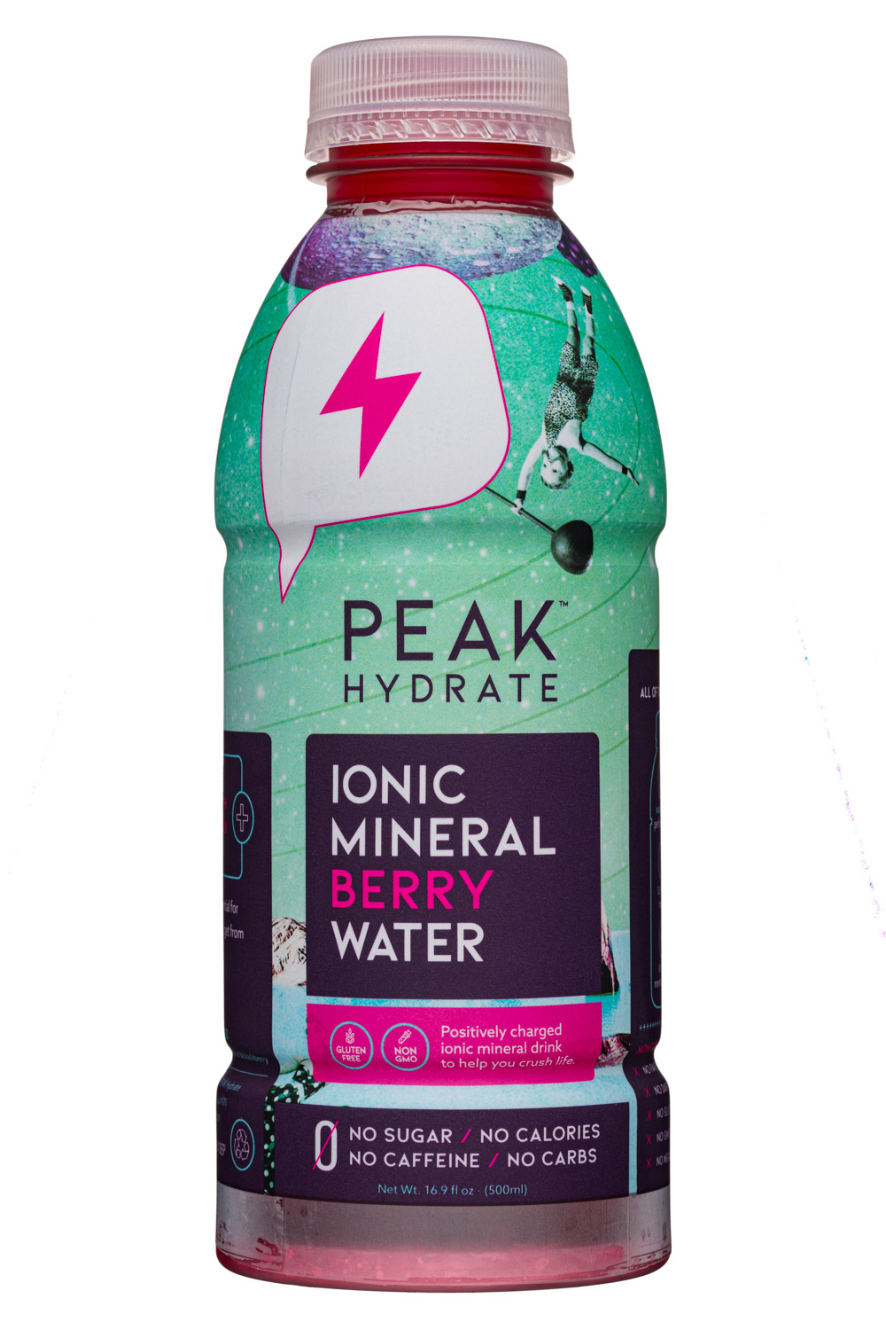 Peak Hydration: PeakHydrate-17oz-MineralWater-Berry-Front