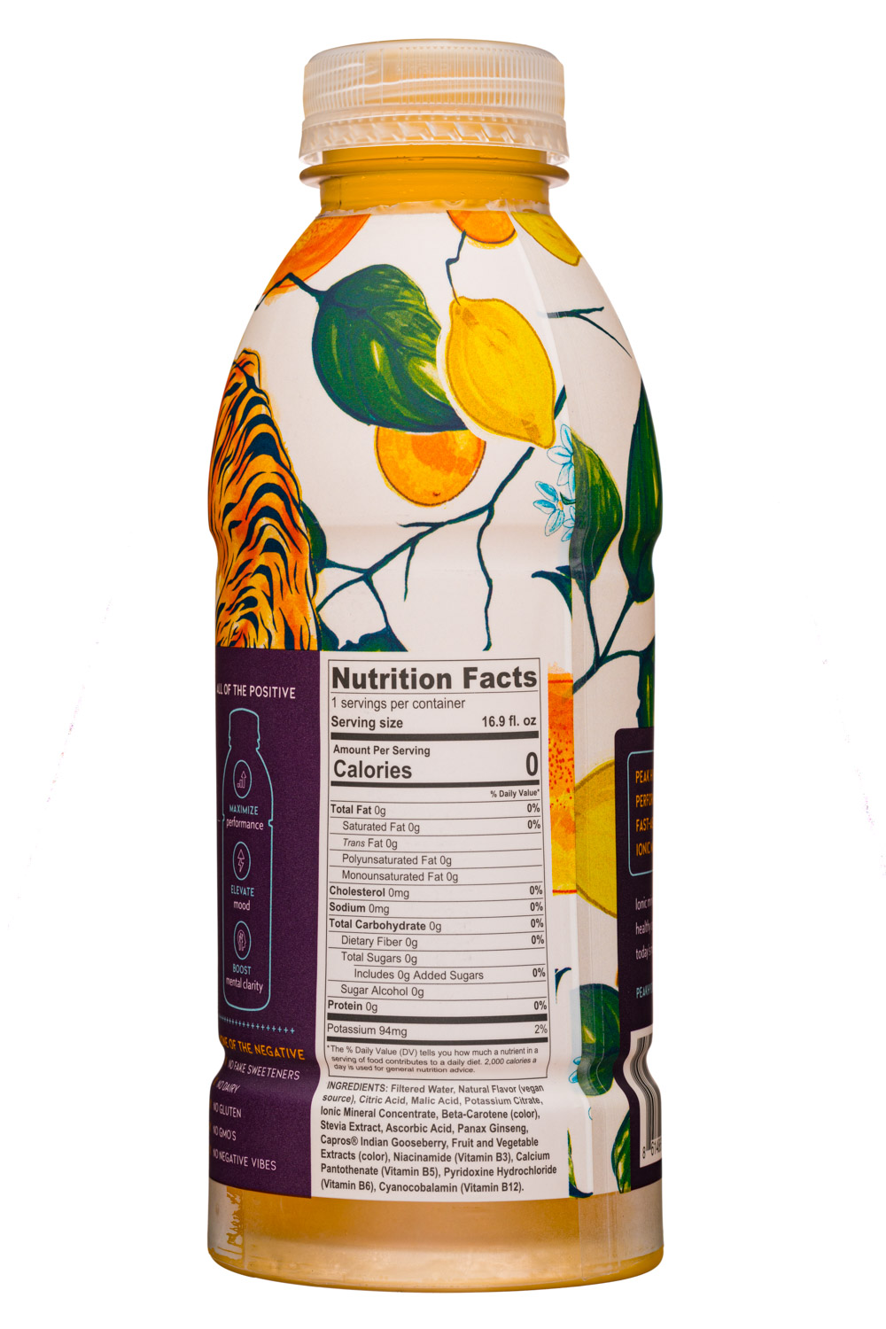 Peak Hydration: PeakHydrate-17oz-MineralWater-Citrus-Facts
