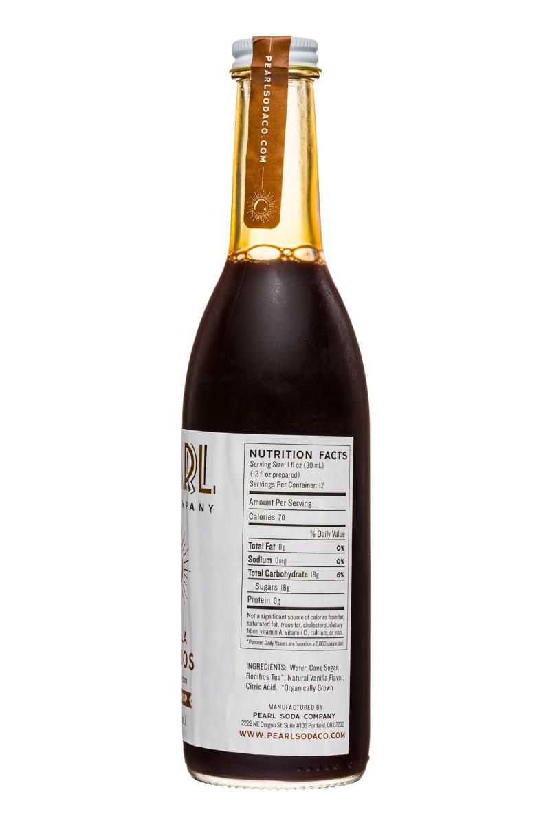 Pearl Soda Company: PearlSodaCo-12oz-VanillaRooibos-Facts
