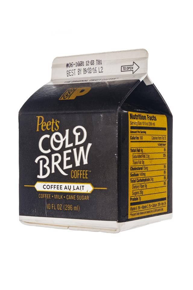 Peet's Coffee: Peets-ColdBrew-CoffeeAuLait-Front