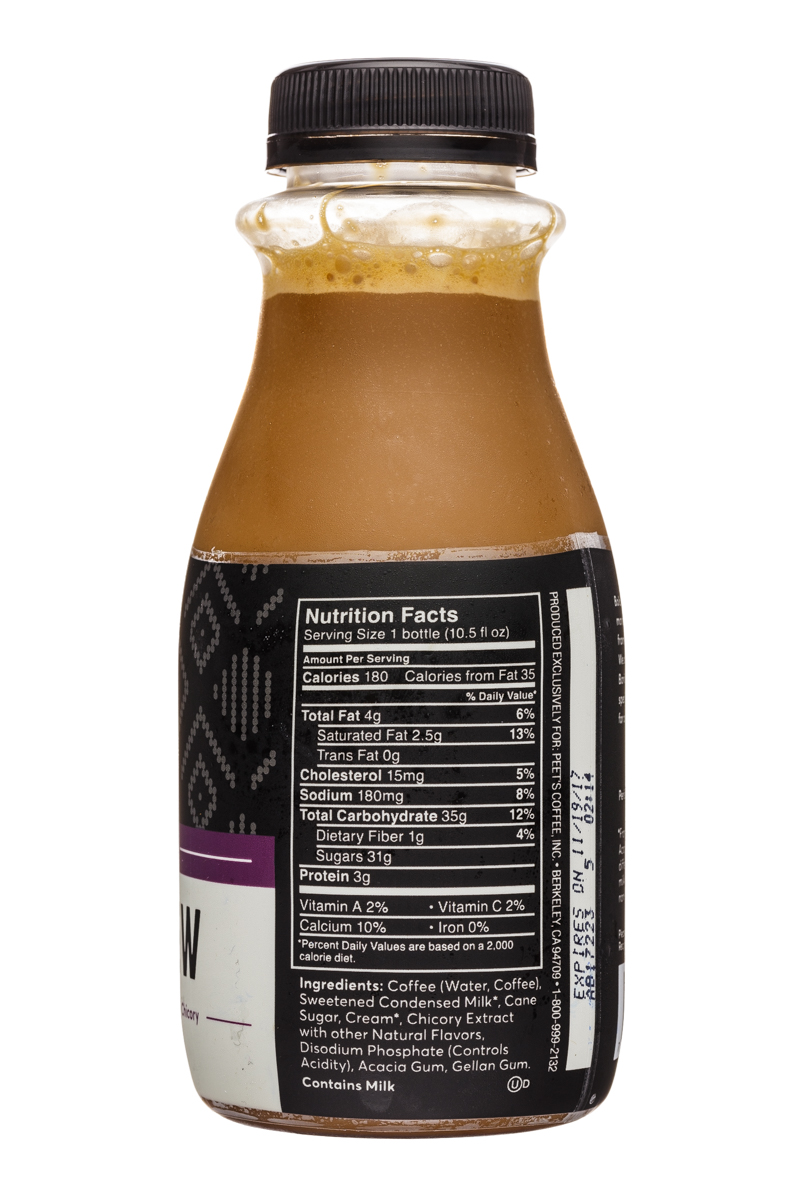Peet's Coffee: Peets-10oz-ColdBrew-TheBlackTie-Facts