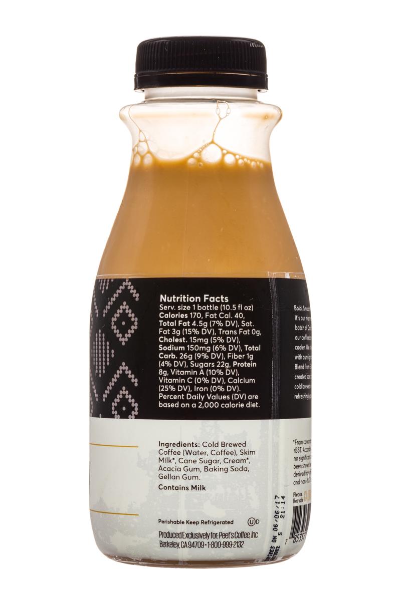 Peet's Coffee: Peets-ColdBrew-10oz-CoffeeAuLait-Facts