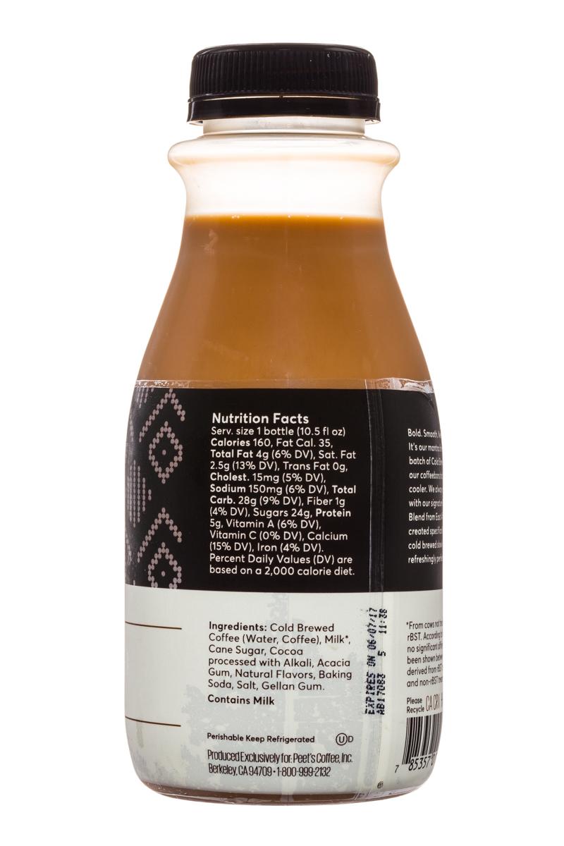 Peet's Coffee: Peets-ColdBrew-10oz-DarkChoc-Facts
