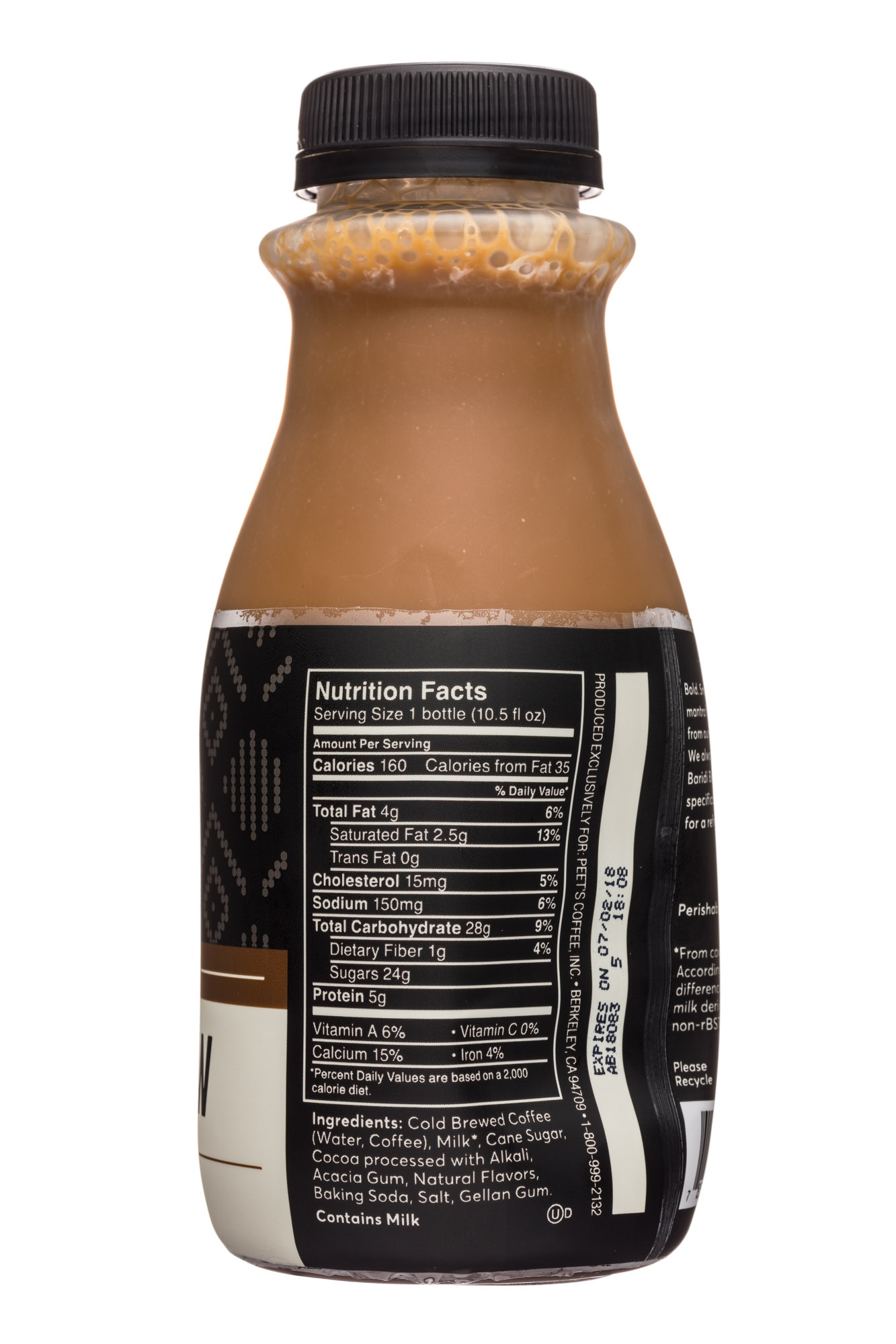 Peet's Coffee: Peets-10oz-ColdBrew2-DarkChoc-Facts