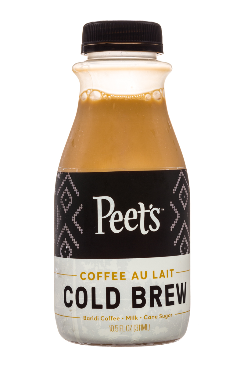 Peet's Coffee: Peets-ColdBrew-10oz-CoffeeAuLait-Front