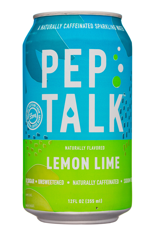 Pep Talk: PepTalk-12oz-CaffeinatedSparkling-LemonLime-Front