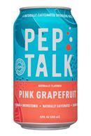 Pep Talk: PepTalk-12oz-CaffeinatedSparkling-PineGrapefruit-Front