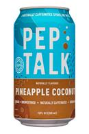 Pep Talk: PepTalk-12oz-CaffeinatedSparkling-PineappleCoconut-Front