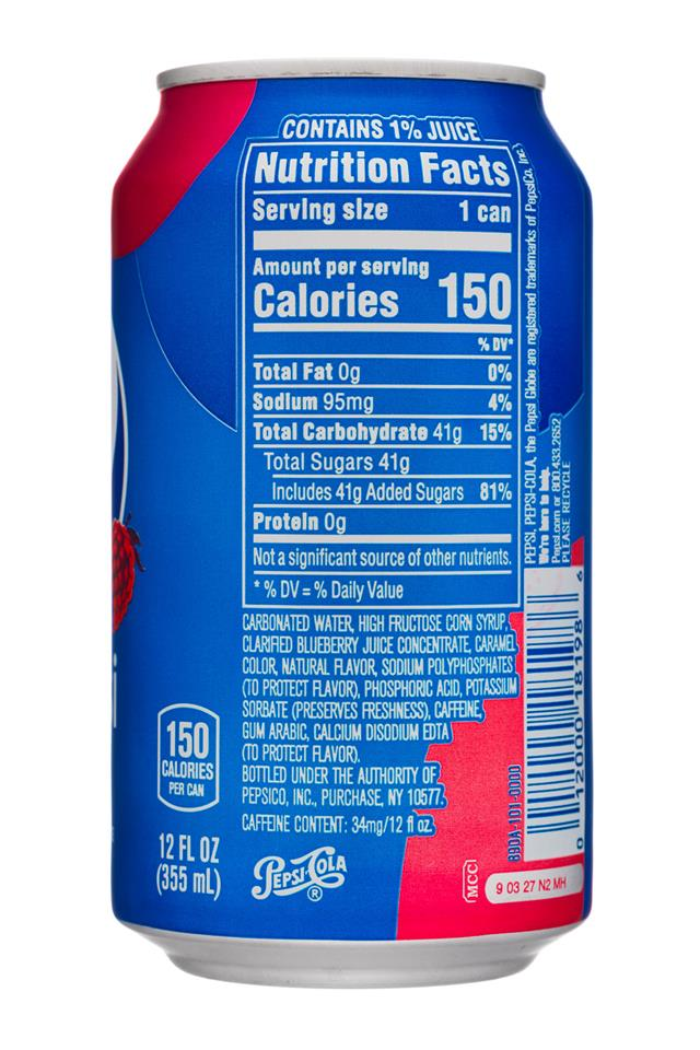 Pepsi Can Nutrition Label Nutritionwalls