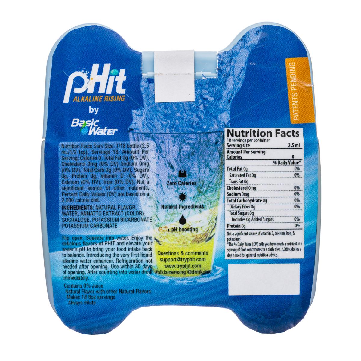 pHit: pHit-2oz-AlkMixer-IcedLemongrass-Facts