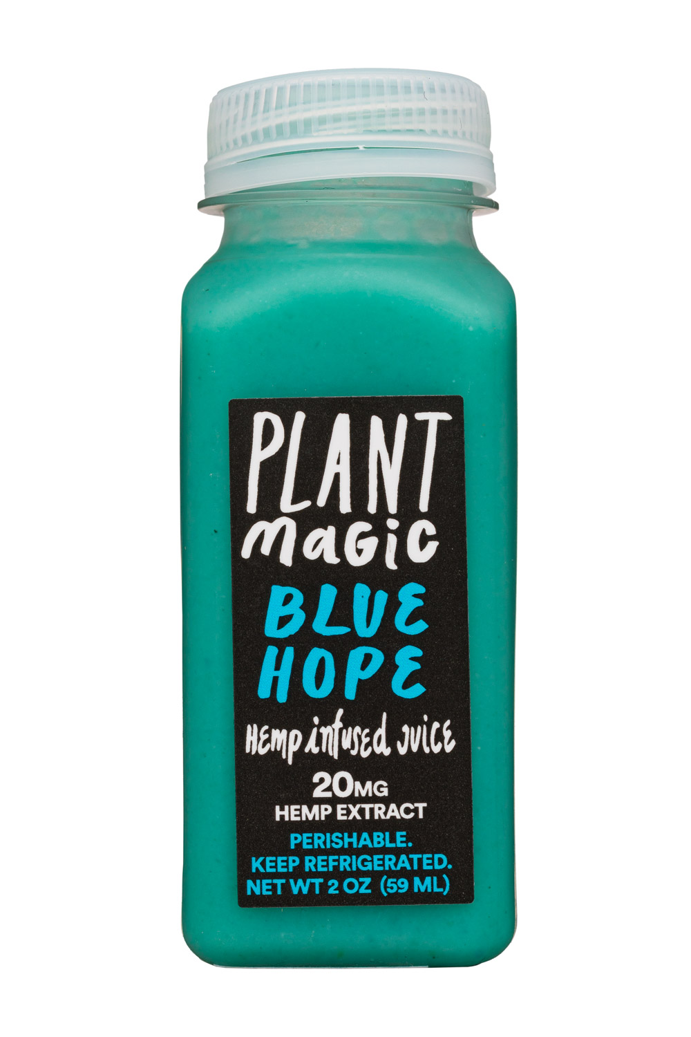 Plant Magic: PlantMagic-2oz-HempJuice-BlueHope-Front
