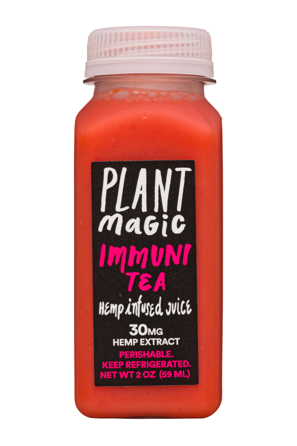 Plant Magic: PlantMagic-2oz-HempJuice-ImmuniTea-Front