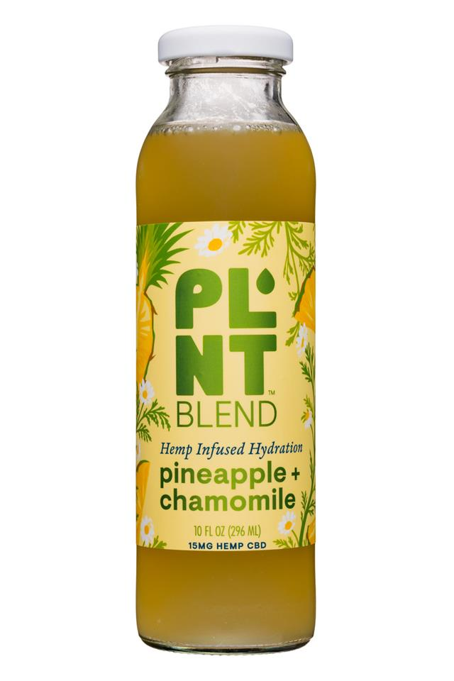PLNT Blend: PLNT-15oz-HempInfused-PineappleChamomile-Front