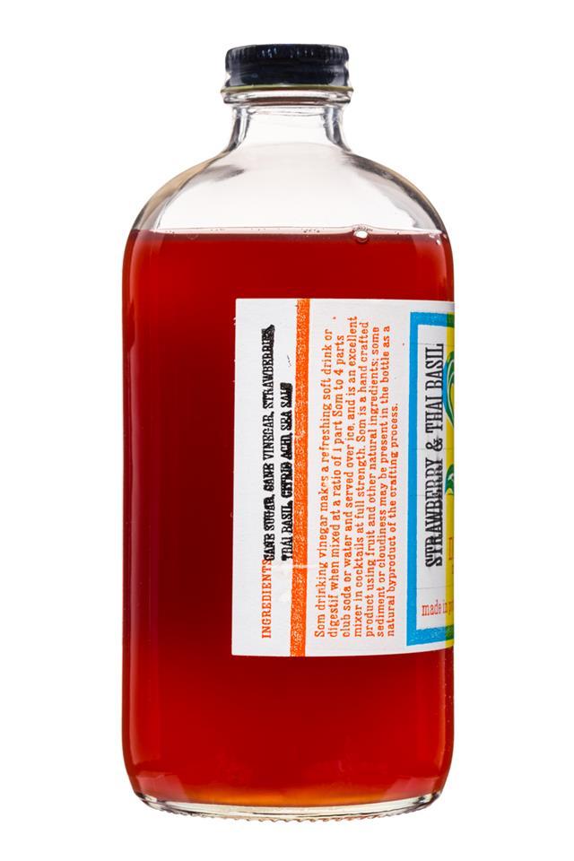 Pok Pok Som: PokPok-Som-DrinkingVinegar-16oz-StrawberryThaiBasil-Facts