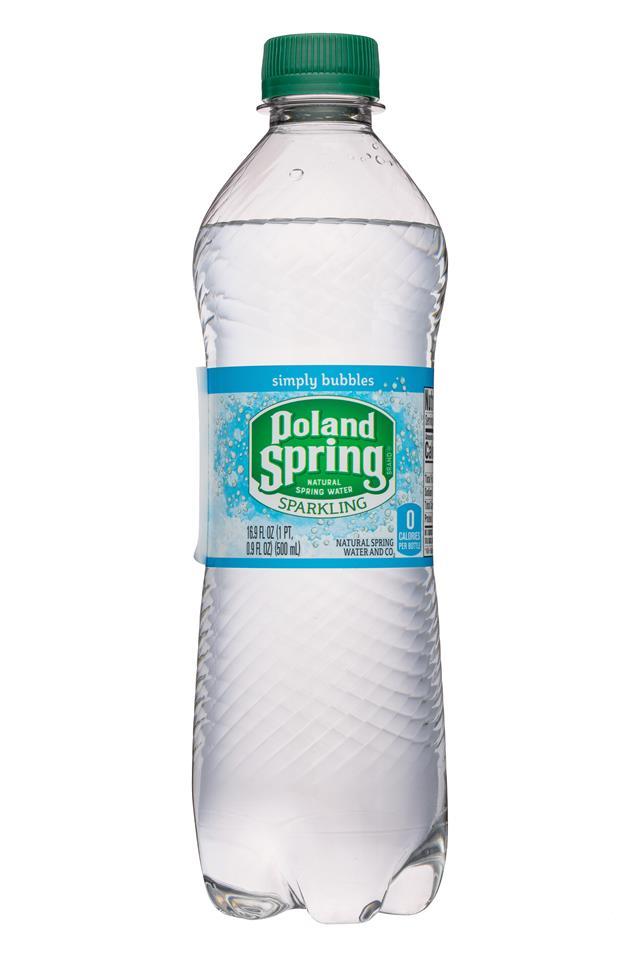 Poland Spring Nature's Blend: PolandSpring-17oz-Sparkling-SimplyBubbles-Front