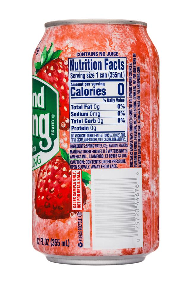 Poland Spring Nature's Blend: PolandSpring-12oz-Sparkling-SummerStrawberry-Facts