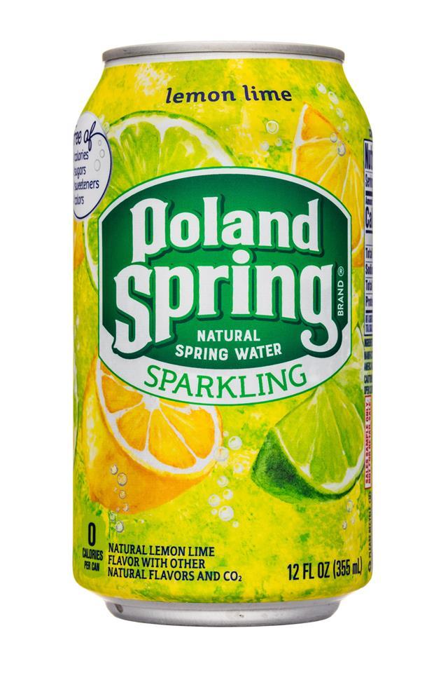 Poland Spring Nature's Blend: PolandSpring-12oz-Sparkling-LemonLime-Front