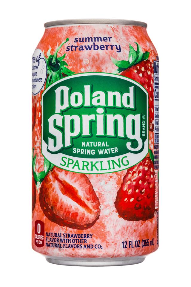 Poland Spring Nature's Blend: PolandSpring-12oz-Sparkling-SummerStrawberry-Front