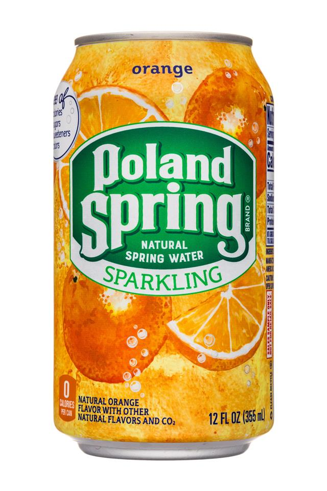Poland Spring Nature's Blend: PolandSpring-12oz-Sparkling-Orange-Front