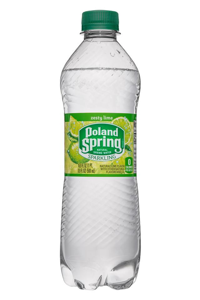 Poland Spring Nature's Blend: PolandSpring-17oz-Sparkling-ZestyLime-Front