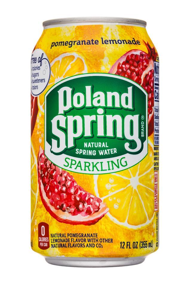 Poland Spring Nature's Blend: PolandSpring-12oz-Sparkling-PomLemonade-Front