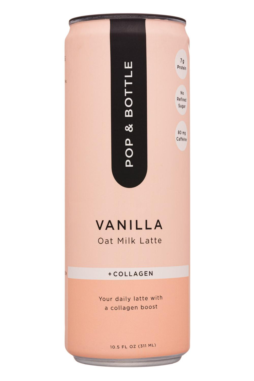 Pop & Bottle: Pop&Bottle-10oz-OatMilkLatte-Vanilla-Front