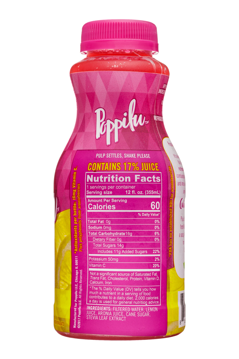 Poppilu: Poppilu-12oz-AntioxidantLemonade-Original-Facts