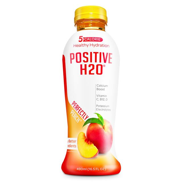 Positive Beverage: PositiveH20-17oz-Peach