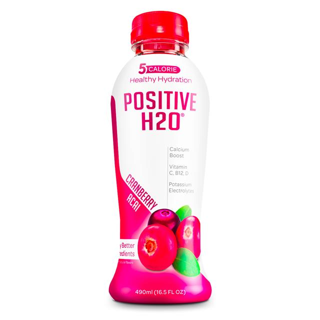 Positive Beverage: PositiveH20-17oz-Cranberry