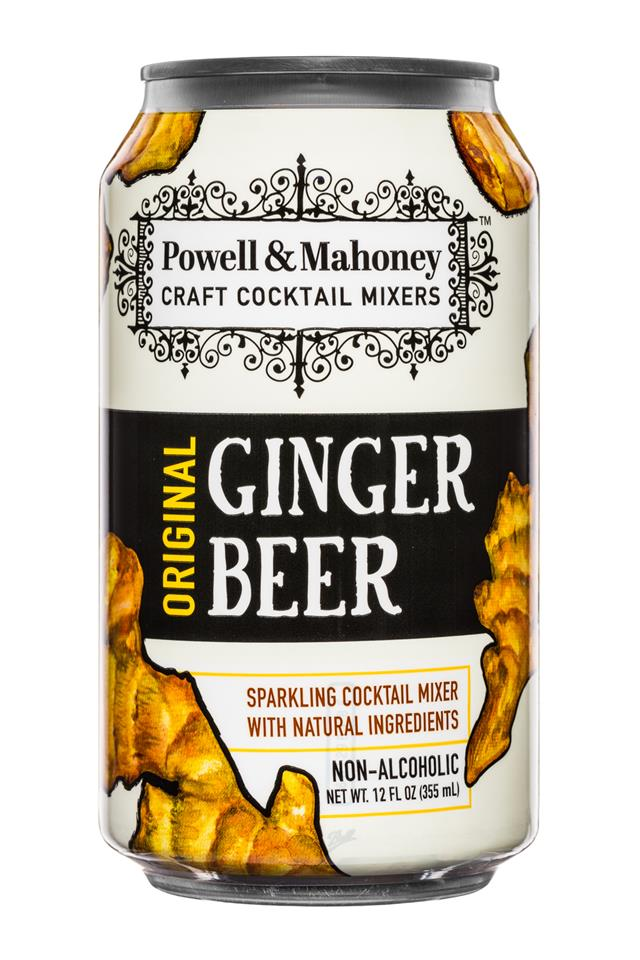 Powell & Mahoney: PowelMahoney-SparklingMixer-12oz-GingerBeer-Front