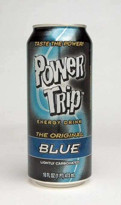 Power Trip Energy Drink: Power Trip Original Blue Single can photo