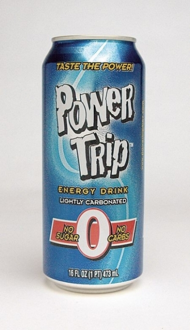 "Power Trip Energy Drink: Power Trip ""0"" Single can photo"