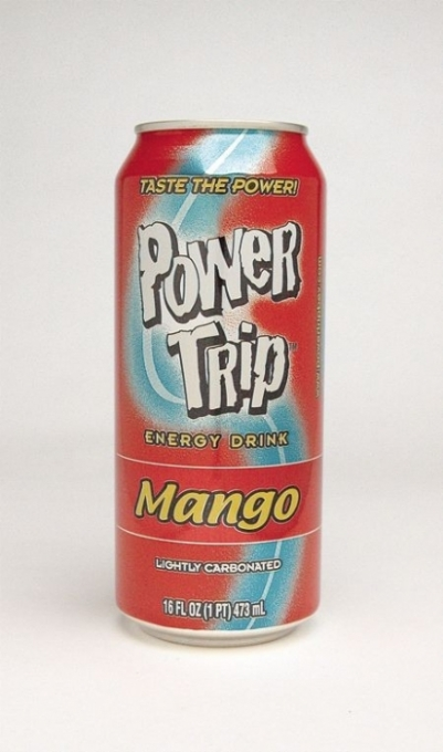 Power Trip Energy Drink: Power Trip Mango Single can photo
