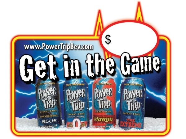 Power Trip Energy Drink: Static Cling