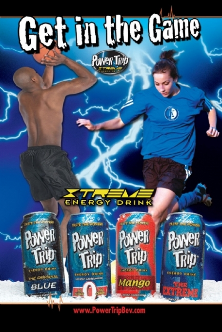 Power Trip Energy Drink: PT Poster