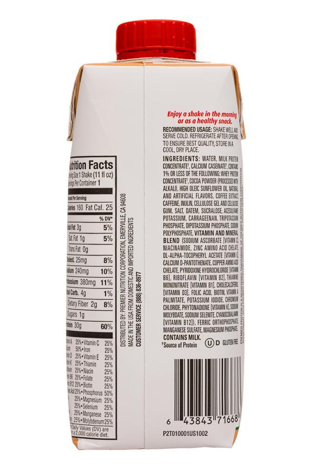 Premier Protein: PremierProtein-11oz-2020-CafeLatte-Facts