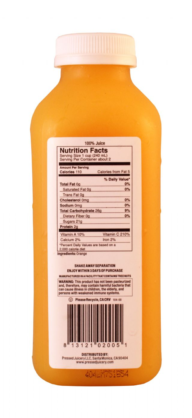 Pressed Juicery: Pressed Orange Facts