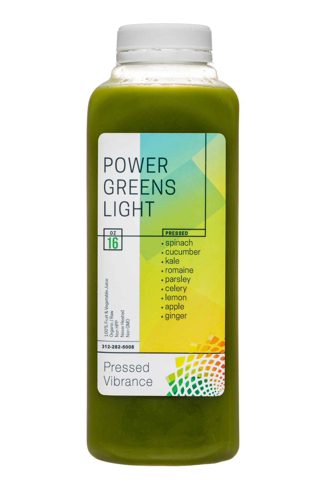 Pressed Vibrance: PressedVibrance-16oz-PowerGreensLight