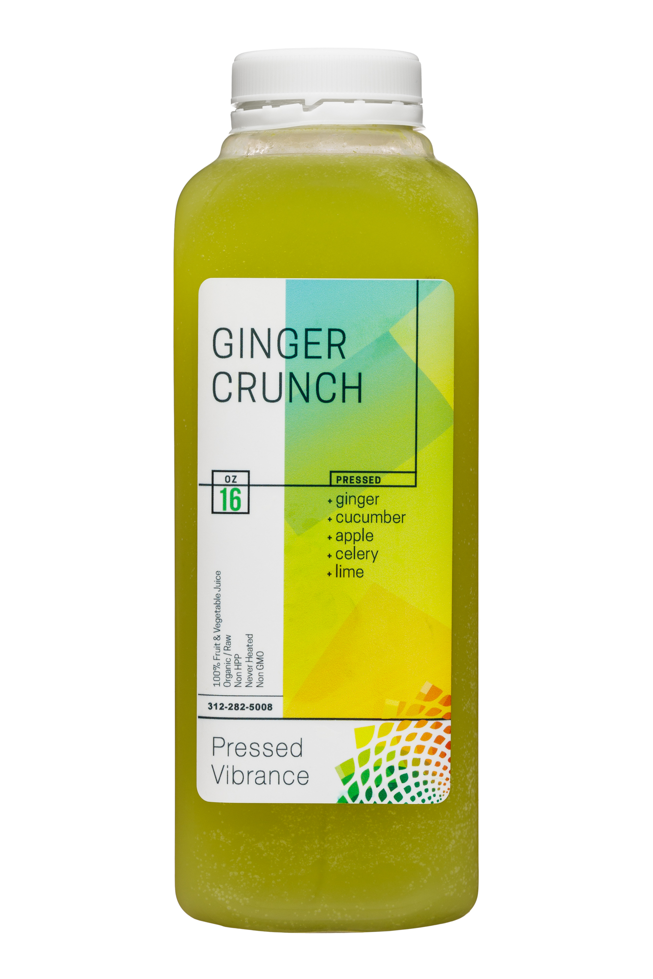 Pressed Vibrance: PressedVibrance-16oz-GingerCrunch