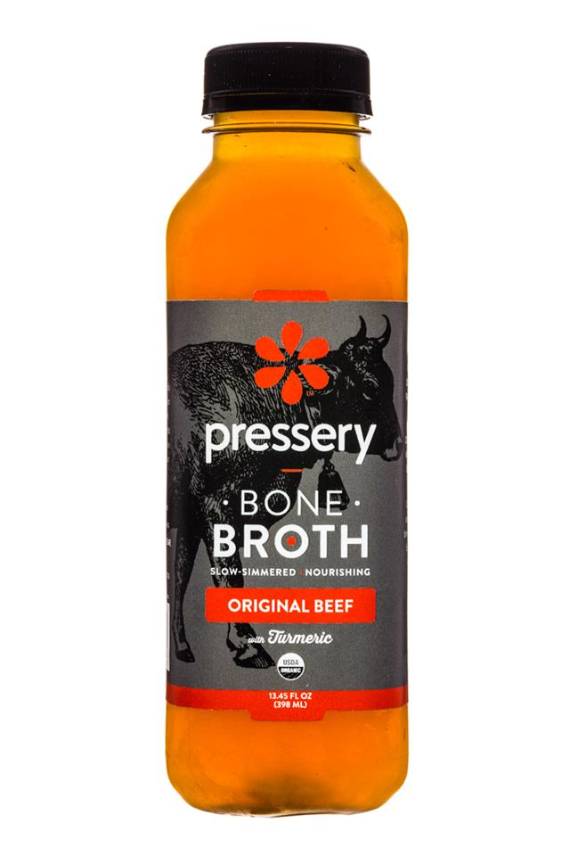 Pressery Bone Broth: Pressery-13oz-Broth-OriginalBeef-Front