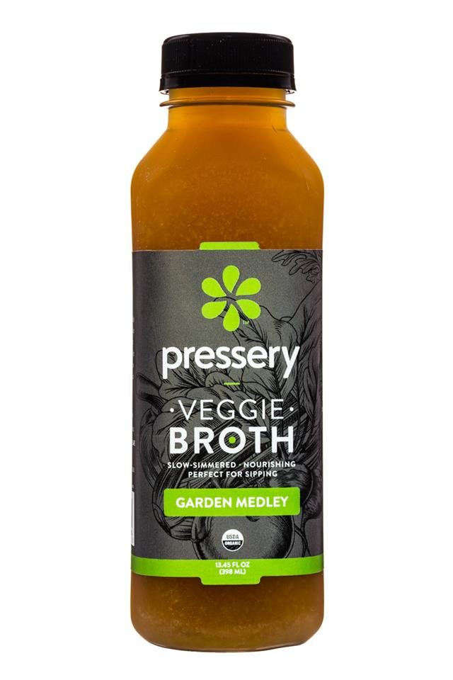 Pressery Bone Broth: Pressery-13oz-Broth-GardenMedley-Front