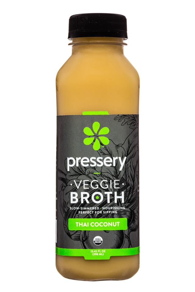Pressery Bone Broth: Pressery-13oz-Broth-ThaiCoconut-Front