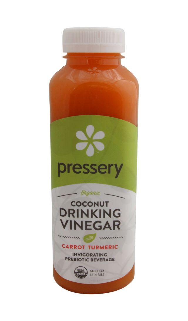 Pressery Coconut Drinking Vinegar: PresseryCarrotTurmeric_front