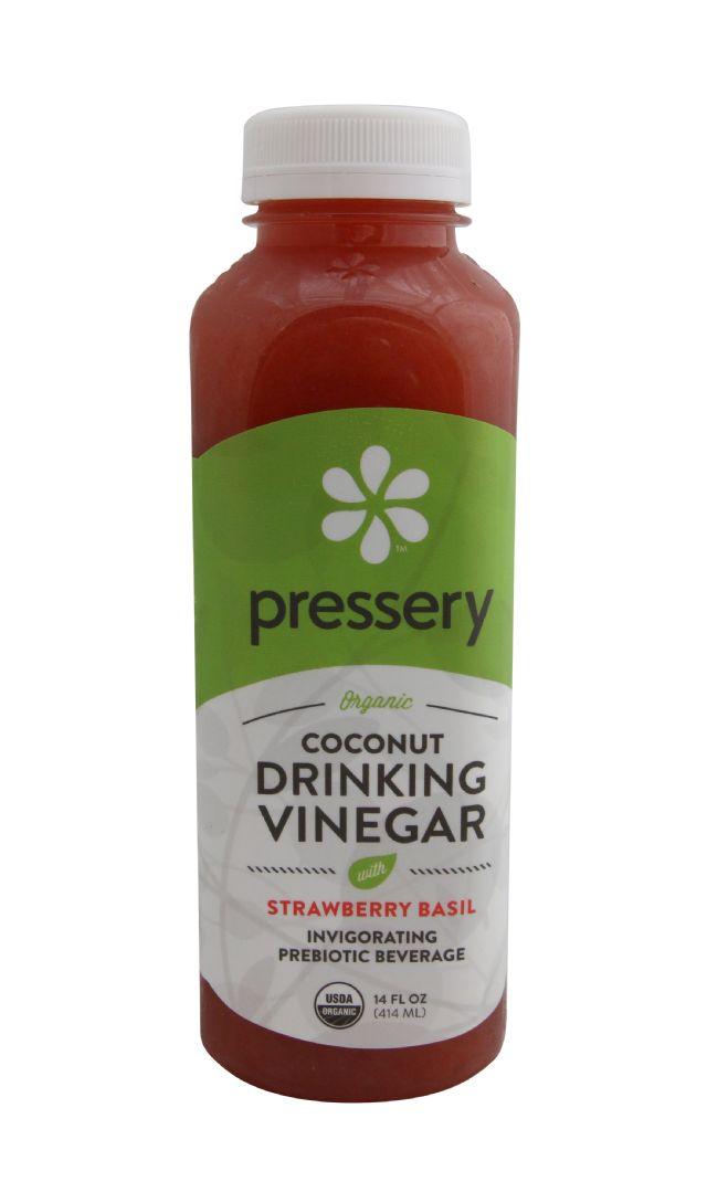 Pressery Coconut Drinking Vinegar: PresseryStrawberryBasil_front
