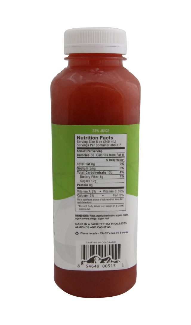 Pressery Coconut Drinking Vinegar: PresseryStrawberryBasil_facts